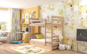 Детская двухъярусная кровать MIELLA Happiness 90x195