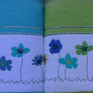 Набор полотенец Korona Style Полянка салатовый